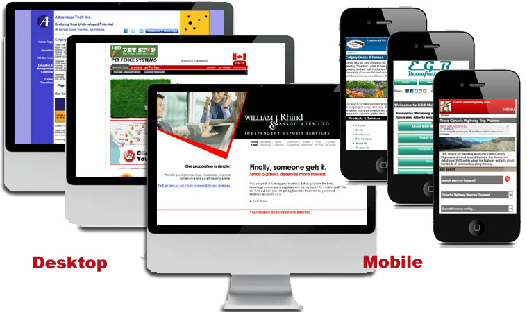 Desktop, Mobile, Responsive Screens