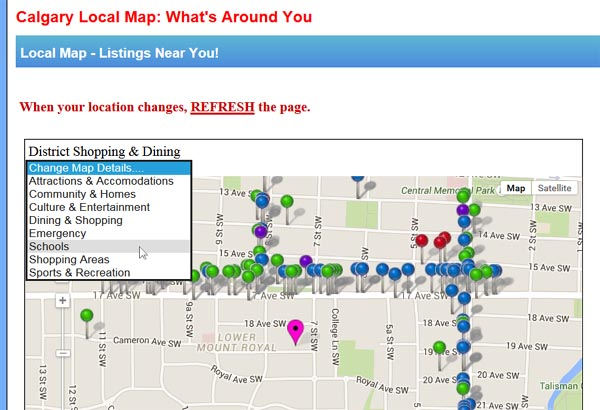 LocalMap & Searches Enhanced With Responsive Design