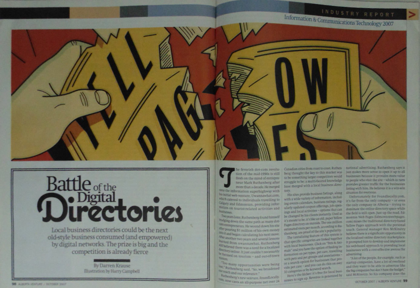 Battle of The Digital Directories-P1 in Alberta Report