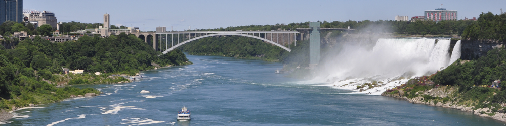 Niagara Falls with Rainbow Bridge