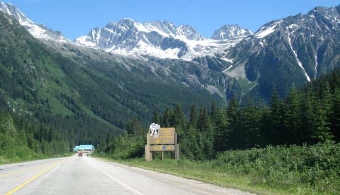 Trans-Canada Highway Through Rogers Pass