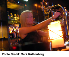 Bartender Pouring Draught Beer
