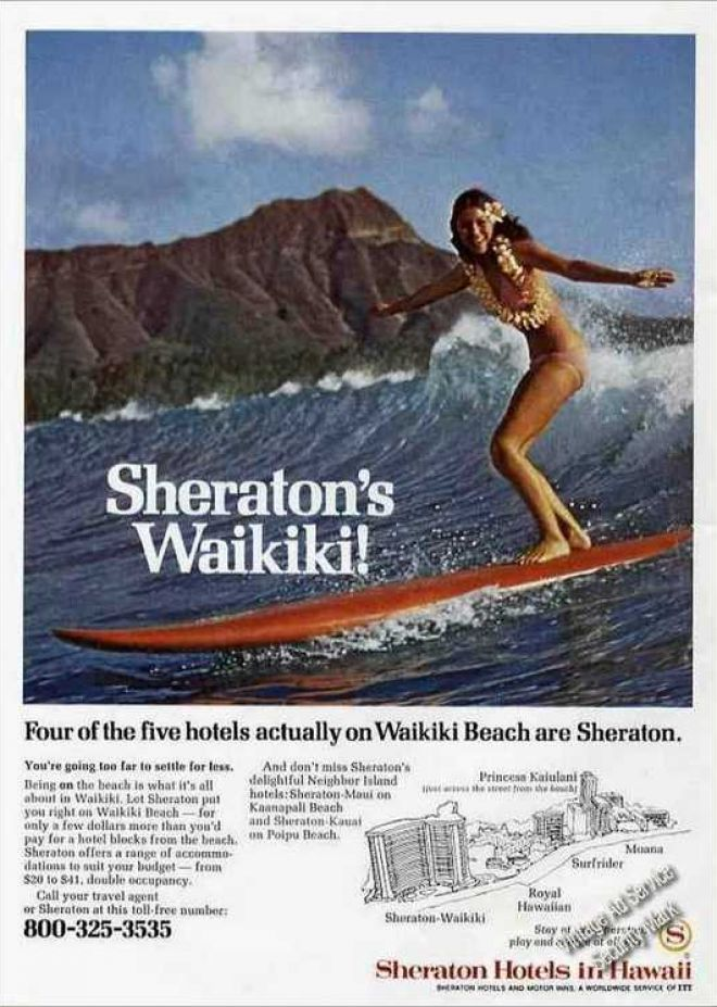 Sheraton 1-800 Ad From 1970s