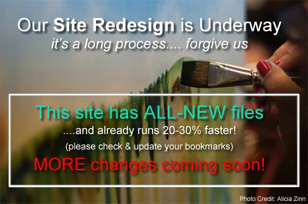Site Redesign Underway