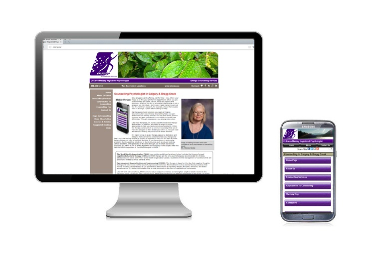 Emergo Counselling Services, Website Design