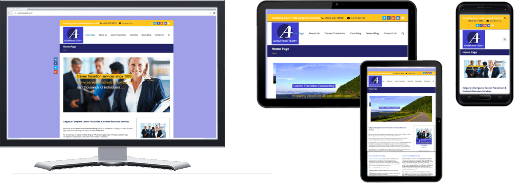 Advantage Tech Inc Website. Multiple Screen Sizes