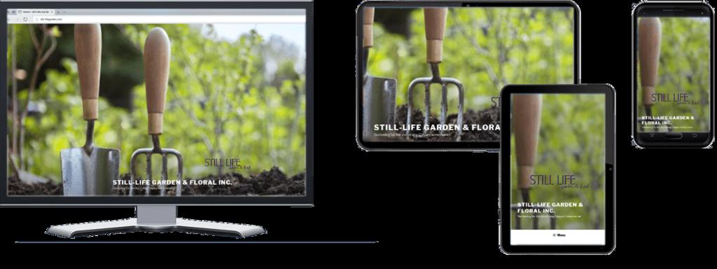 Still-Life Garden website in Multiple Screen Sizes