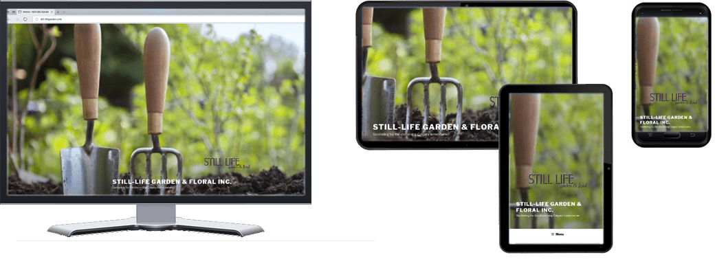 Still-Life Garden Website In Multiple Screen Sizes