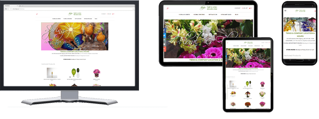 Twigs And Company Website In Multiple Screen Sizes