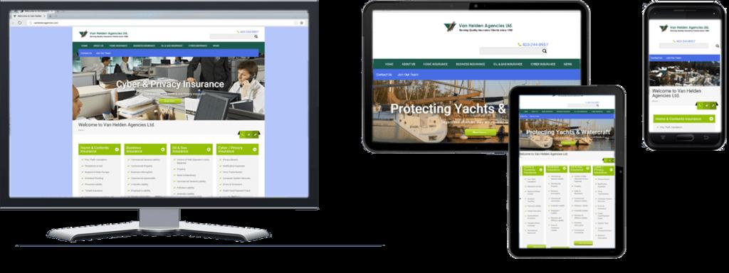 Van Helden Agencies website - Multiple Screen Sizes
