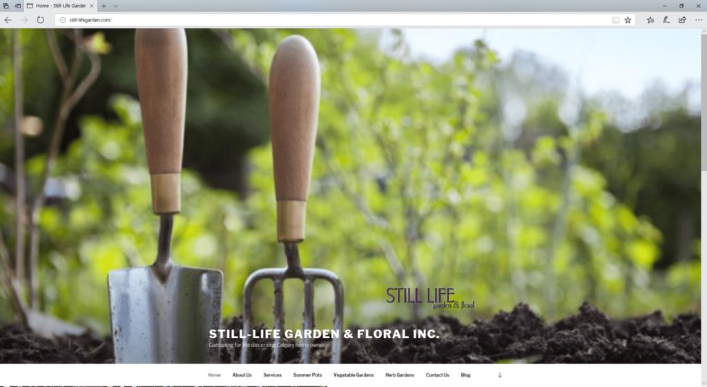 Still-life Garden website - Desktop