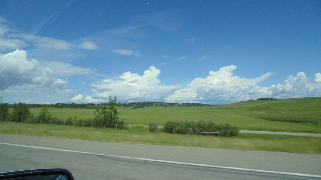 farmlands with summer cloud, Rockyview