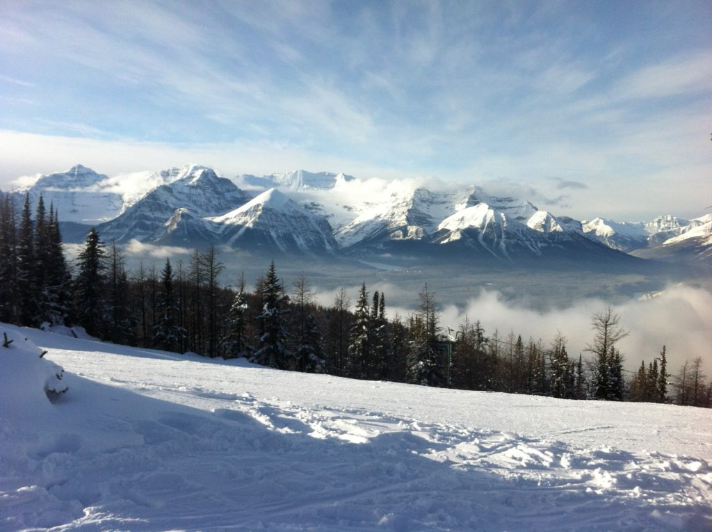 View to Lake Louise, from Louise ski hill