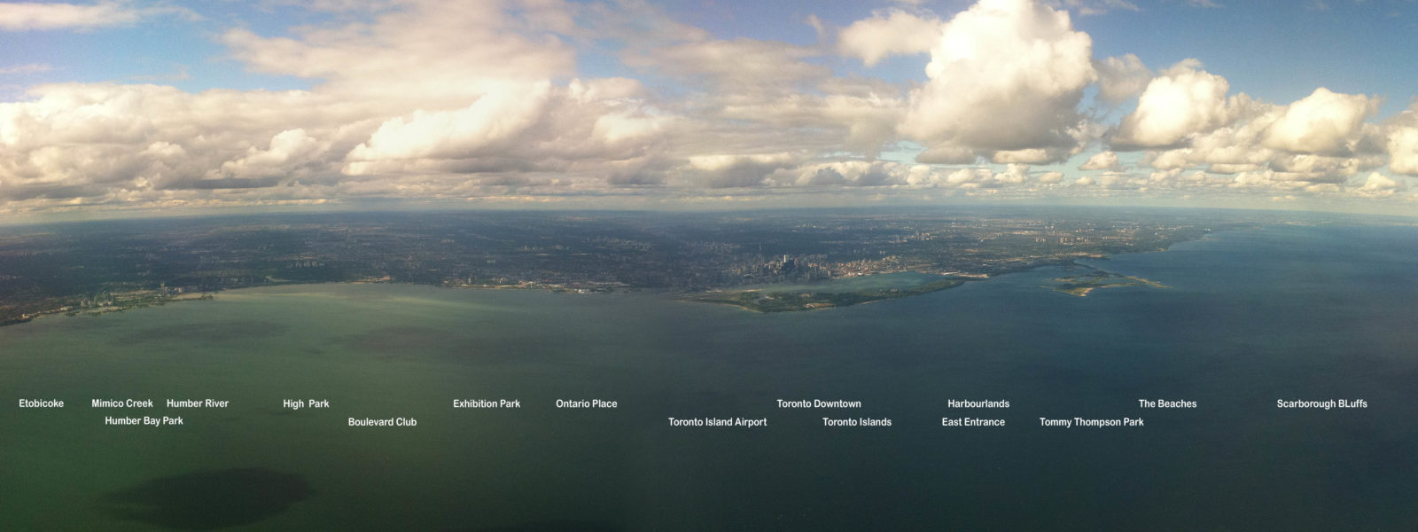 Toronto Waterfront Wide, taken from airplane