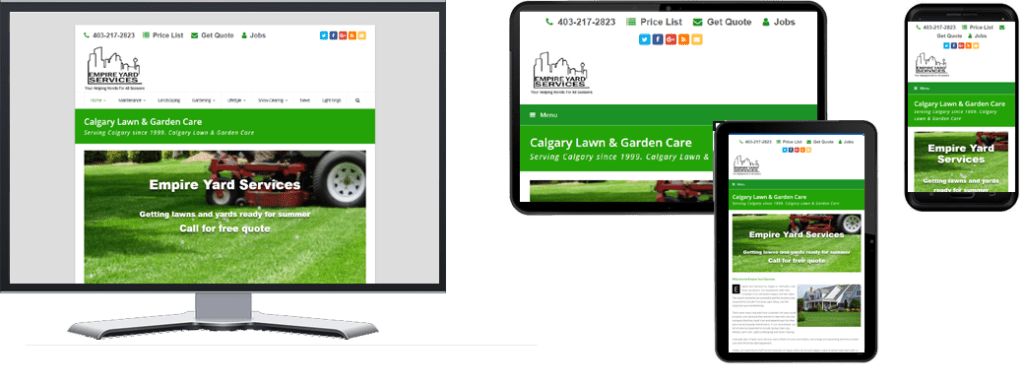 Empire Yards Services responsive website design for multiple devices