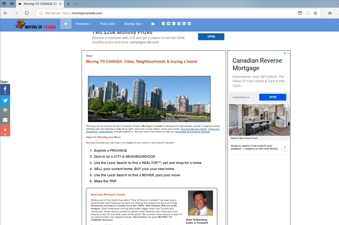 We've Updated MovingInCanada.com