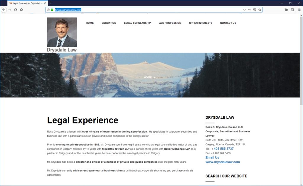 Drysdale Law Desktop website