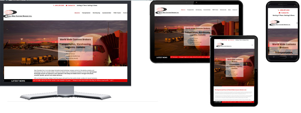World Wide Customs Responsive Portfolio