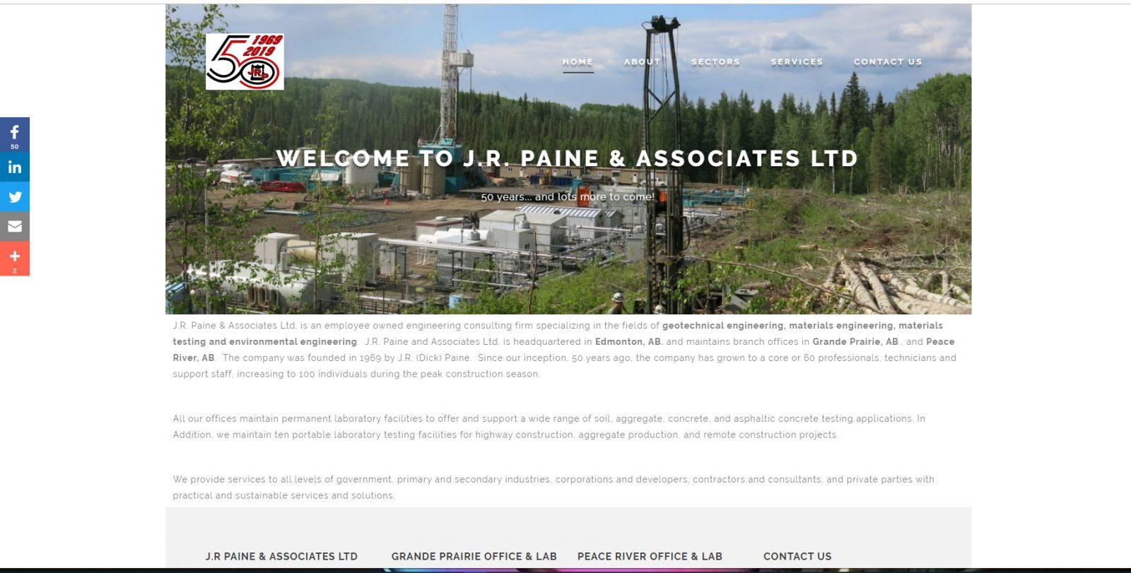 JR Paine & Associates -desktop website