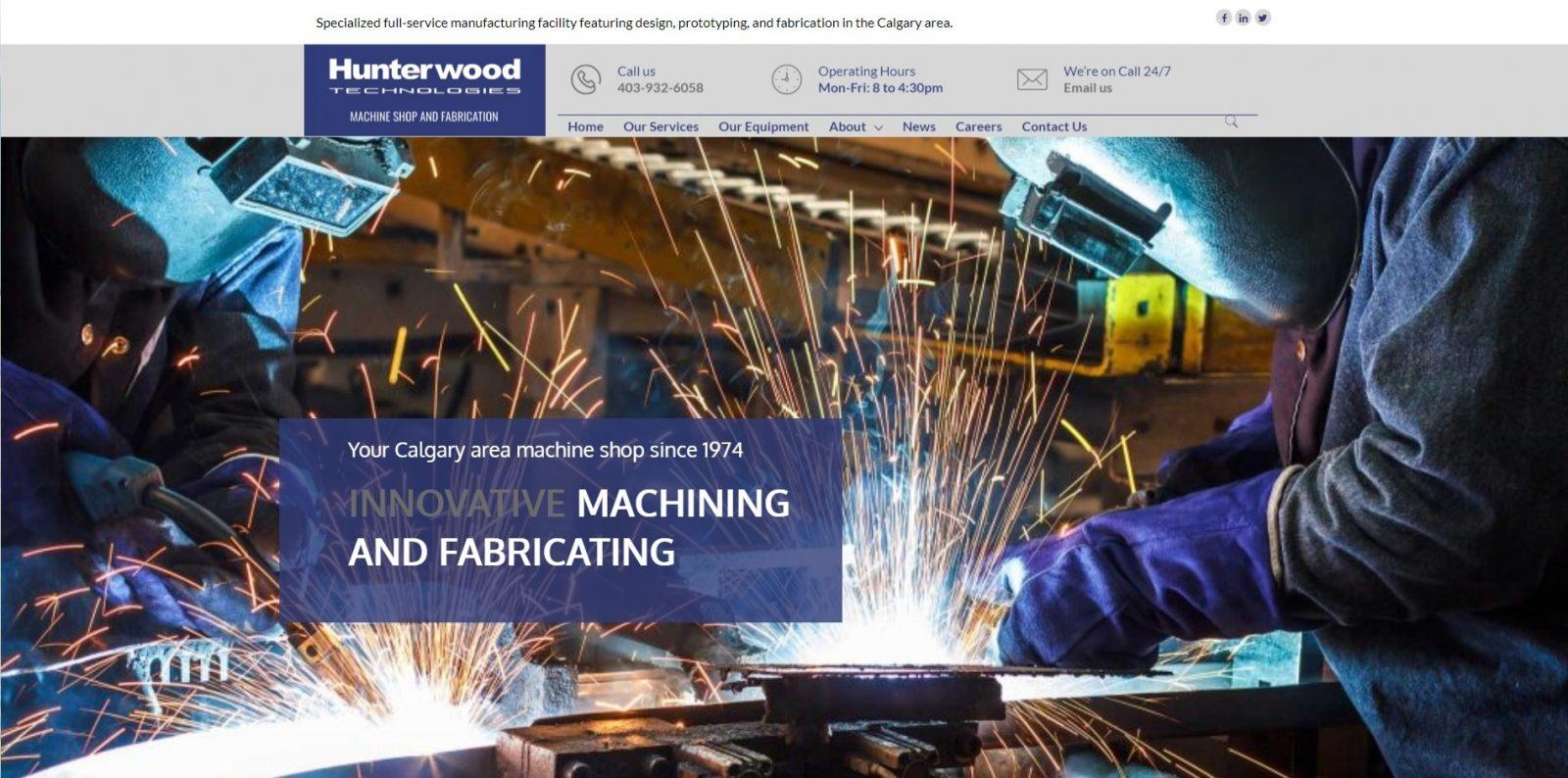 Hunterwood Technologies fabrication workshop -desktop