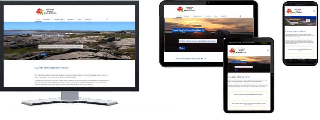 Canadian North Resources - Responsive Website