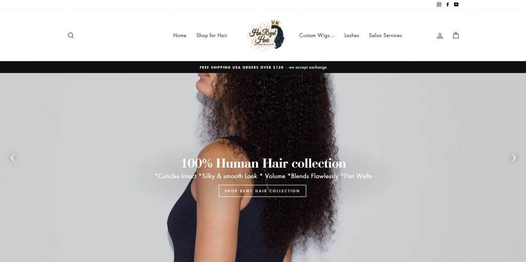 Her Royal Hair desktop website