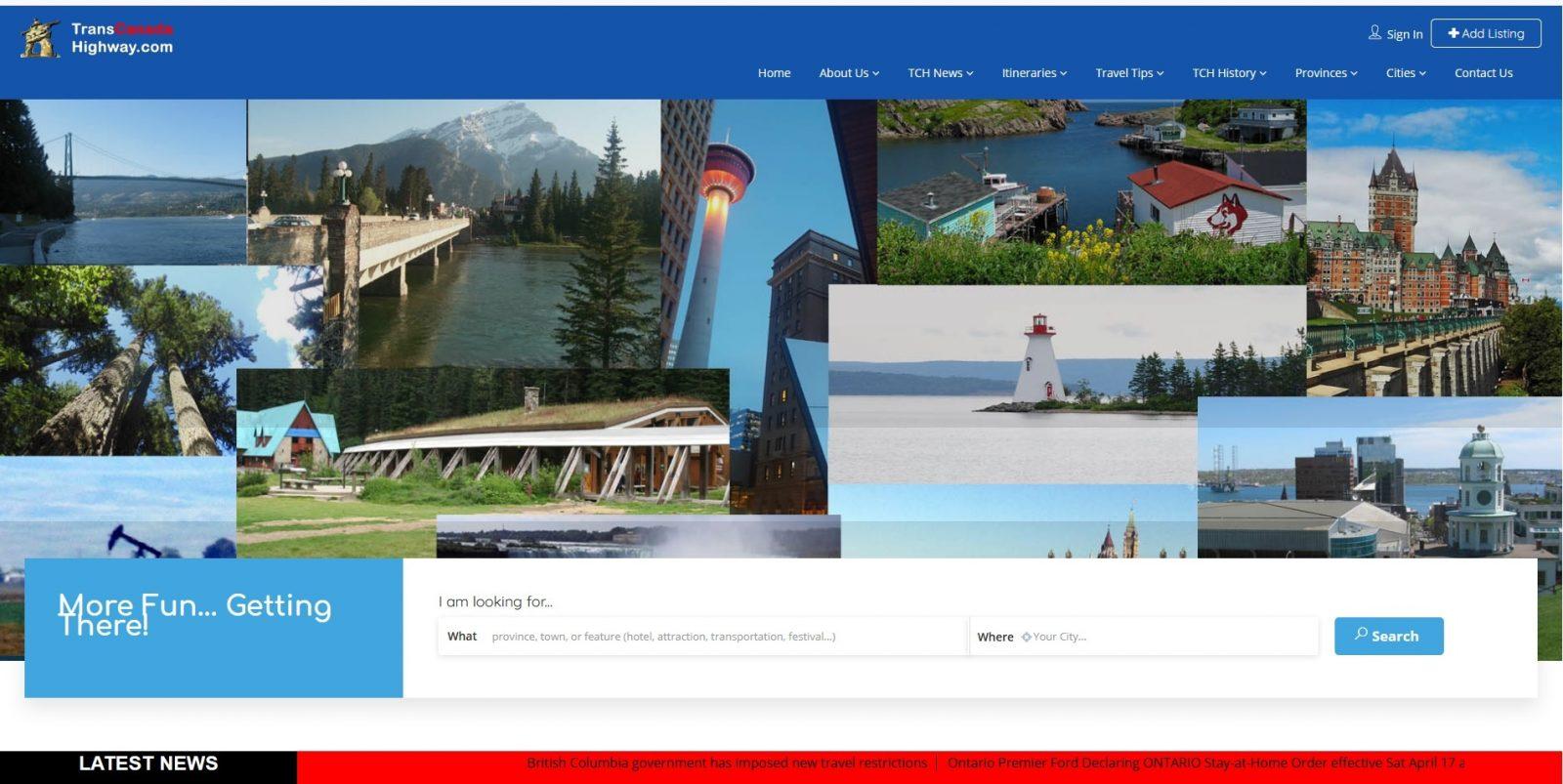 TransCanadaHighway.com Home Page